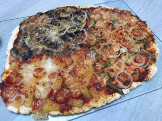 vegetarische pizza na